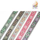 "Jacquard Ribbon 11/16"" Classic Ren Style *Colors* Per Yard"