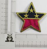 "Hot Pink & Navy Star 3"" (75mm)"