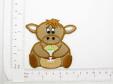 Baby Cow with Bottle Patch Embroidered Iron On Applique