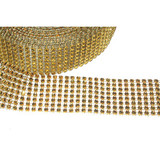 "Jewel Effect Trim 1 1/2"" Gold By The Yard"