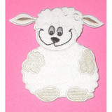 Lamb Embroidered Iron  On Patch Applique