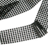 "Jewel Effect Trim 1 1/2"" Black By The Yard"