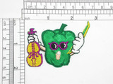 """Bell Pepper with Fiddle Iron On Patch Applique Measures 2"""" high x 2 5/8"""" wide approximately"""