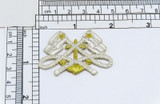 Silver Anchor with Cross Flags Iron on Applique