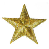 "Star Metallic Gold Bordered 1 7/8"" 10 Pack"