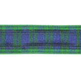 "Plaid Tartan Ribbon 1 1/2"" Blue Green 5 Yards"