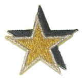 Star Metallic Gold Silver Black 10 Pack