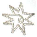 Star Center Swirl Silver