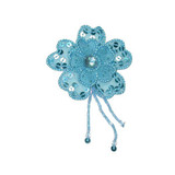 Blue Flower - Layered & Beaded