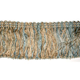 "Fringe 2 3/4"" Blue & Tan Conso 2 3/8 yards"