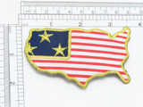 Patriotic United States Iron On Patch