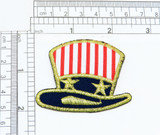 Patriotic Uncle Sam Hat Iron on Patch