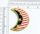 Patriotic Moon iron On Patch