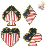 Patriotic Club Spade Diamond or Heart