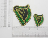 Irish Harp Embroidered Iron On Patch Applique - Two Sizes