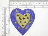 Astrology Stars & Moons Heart Embroidered iron On Applique