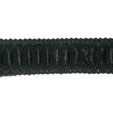 "Braid 1"" Black with Satin Ribbon Insertion 5 Yards"