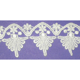 """Venise Lace 2 7/8"""" White Floral Priced Per Yard"""