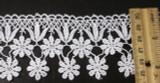 """Venise Lace 2 3/8"""" (60.3mm) White Floral Drops Priced Per Yard"""