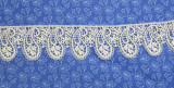 """Venise Lace 1 9/16"""" (40mm) Paisley Style Ivory Priced Per Yard"""