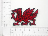 Welsh Dragon Embroidered Iron On Patch Applique