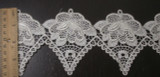 """Venise Lace 4"""" Off White Floral Priced Per Yard"""