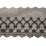 "Embroidered Sheer 4"" Black Priced Per Yard & Up"