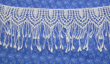 """Venise Lace 2 7/8"""" (73MM) Droplets White Priced Per Yard"""