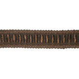 "Braid 1"" Brown with Satin Ribbon Insertion 5 Yards"
