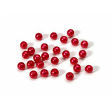 Beads 6mm Faux Pearl Red 120 piece pack