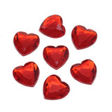 Acrylic Rhinestones 18mm Faceted Heart 8 pieces
