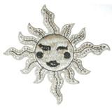 Winking Sun Metallic Silver