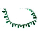 Fused Beads Teardrop 15mm 10 Yard Roll Emerald
