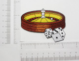Roulette Wheel Patch Embroidered Iron On Applique