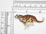 "Cheetah Running Embroidered Iron On Patch Applique Fully Embroidered Measures 2 3/16"" across x 1 1/4"" high"