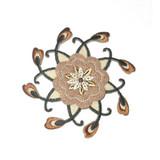 Brown Flower Spiral
