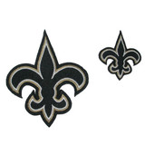 Fleur De Lys New Orleans Iron On Patch  - GIant 6 1/2""