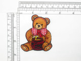 Bear with Honey pot Iron On Embroidered Applique 2 1/4 x 2 3/4""