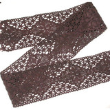 """Cluny Lace - 2 1/4"""" Brown 6 Yards"""