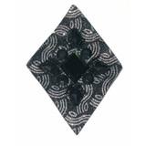 Beaded Applique - Black & Silver