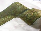 Sari Border woven jacquard ribbon green gold tjr871