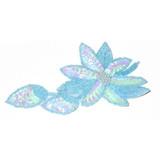 Flower Spray Blue sequin