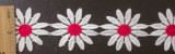 """Venise Lace Daisy 1 3/4"""" (44.45mm) White & Red Per Yard"""