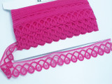 """Scalloped Lace 1 3/8"""" (35mm) Hot Pink 50 Yards"""
