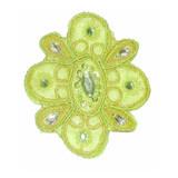 Beaded Flower Lime Green