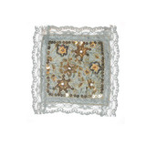 """Fabric Panel Applique  - Beaded & Embroidered 5"""" square"""