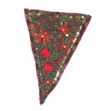 Fabric Panel Applique  - Beaded & Embroidered Triangle