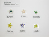 Glass Seed Bead Star Flower  Appliques *Colors* 10 Pack