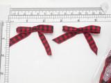 "Red Black Plaid Bows 12 Pack 2 1/4"" x 1 1/2"" (57mm x 38mm)"