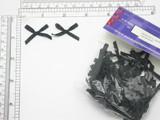 """Mini Ribbon Bows 1 1/2"""" x 7/8""""  100 Pack black"""